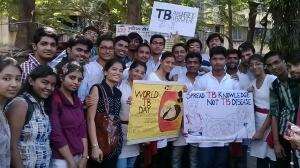 The Students of K.J. Somaiya Institute of Engineering and Information Technology who entertained and educated the public on the signs and symptoms of Tuberculosis through their street play